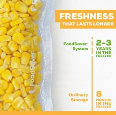By sealing and saving fresh fruits and veggies with the FoodSaver® System, you can have your favorite produce, like corn, anytime of year, even when it's not in season. Make this summer staple work during the winter by incorporating it into dishes like chili and corn chowder. Freezing Fresh Corn, Ice Shavers, Vacuum Sealer, Sugar Snap Peas, Corn Chowder, Love Tips, Fruits And Veggies, Fresh Fruit, Gardening Tips