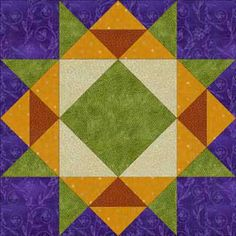 free quilt block patterns to print | Crown of Thorns Quilt Block Pattern