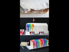 Diy drip paint cake