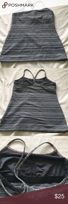 LuluLemon Power Y Tank Preloved LuluLemon tank with shelf liner.  Luon Fabric. Sweat wicking. Size 8. Nonsmoking home. No trades & Im Firm on price. Thanks!!! lululemon athletica Tops Tank Tops