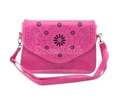 Women's Classical Retro Messenger Bag Hollow Woven Handbag