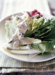 bibb wedges radicchio endive and blue cheese dressing blue cheese ...