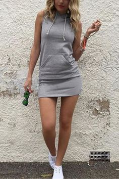 Casual Hoodie Mini Dress