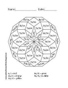 Pin by Tammie Bland on Multiplication activity sheets