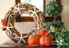 Coastal Wreaths that are Fit for Fall.