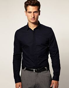 Very nice, quite reminiscent of the D&G slimfit shirts (see BBC Sherlock for the most gorgeous aubergine one)ASOS Slim Fit Shirt