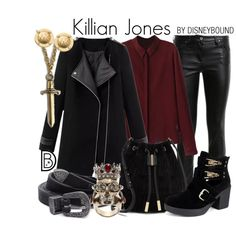 Killian Jones by leslieakay on Polyvore featuring Roberto Cavalli, Glamorous, Vince Camuto, Alexander McQueen, Michael Kors, S.W.O.R.D., Forever 21, disney, disneybound and disneycharacter