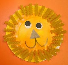 kids-crafts-with-paper-plates-lion.jpg (320×308)