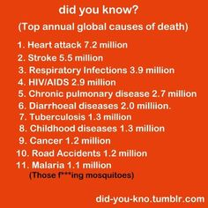 Top global causes of death.