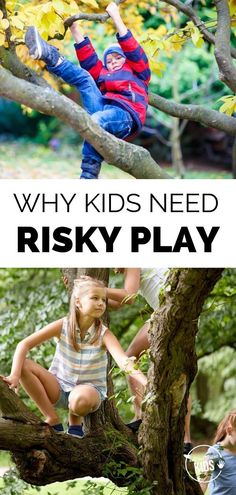 Risky play among children promotes creativity, leadership, and group skills. But finding the nerve to let kids take risks can be challenging for modern parents. Here's how one parent let go and let her kids take more risks. Play Based Learning, Kids Learning Activities, Learning Through Play, Family Activities, Parenting Toddlers, Parenting Hacks, Parenting Ideas, Gentle Parenting, Natural Parenting