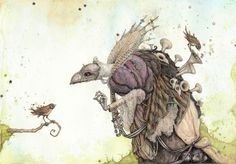 """Skeksis (The Dark Crystal)"""" Art Print by Leontine Greenberg - OMG Posters! Illustrations, Illustration Art, Crystal Illustration, Thor Y Loki, Franz Marc, The Dark Crystal, Fantasy Creatures, Magical Creatures, Art Reproductions"""
