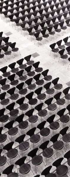 Arne Jacobsen's Series 7 chairs in Gentofte City Hall, Denmark