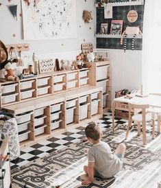 Kinderzimmer Ikea - TROFAST, baby room Kitchen Organization Ideas Article Body: Go through your kitc Playroom Design, Baby Room Design, Baby Room Decor, Ikea Baby Room, Modern Playroom, Room Baby, Child Room, Nursery Design, Toddler Playroom