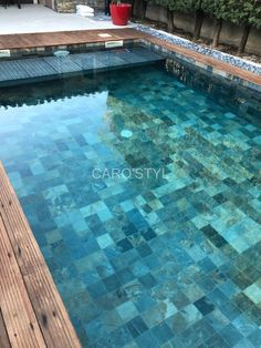 Swimming Pool Tiles, Swimming Pool Designs, Small Backyard Pools, Backyard Pool Designs, Glass Pool Tile, Villa Pool, Small Pool Design, Pool Installation, My Pool