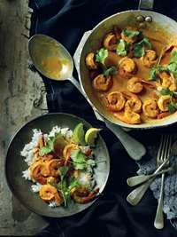Prawns in Tomato and Coconut Milk Recipe by Reza Mahammad : Food Network UK Fish Recipes, Meat Recipes, Seafood Recipes, Indian Food Recipes, Ethnic Recipes, Indian Foods, Healthy Recipes, Food And Travel Magazine