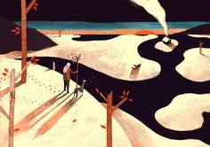 Owen Gent—Two page illustration for the December/January 2012 issue of 247 Magazine http://owengent.com/