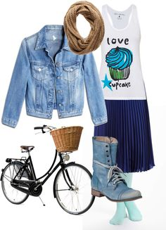 """""""I want to ride my bicycle"""" by colleen-mcgeady on Polyvore"""