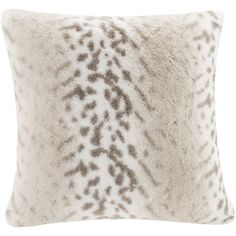 Madison Park Signature Luxury Faux Fur Throw Pillow ($75) ❤ liked on Polyvore featuring home, home decor, throw pillows, snow leopard, faux fur throw pillow and patterned throw pillows