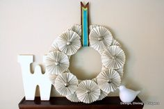BOOK PAGE WREATH..... very creative use of materials Crafts Now