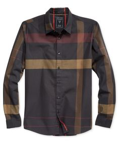 Guess Men's Canyon Plaid Shirt