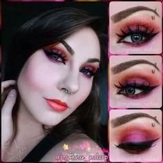 Look created using starcrushedminerals eyeshadows in GetJuiced and JackOLantern.