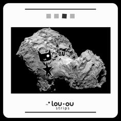 @Lou_Ou_The_Cat #Rosetta #CometLanding #cat #space #dark #blackcat #spaceTravel #Space #fun #kitty #fun #adventure