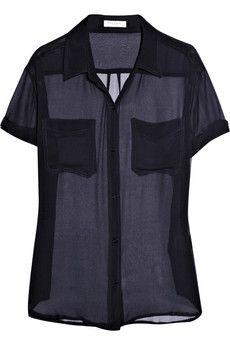 Equipment Runaway silk-chiffon shirt  | THE OUTNET