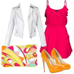 Pink & Orange, created by laurendoubleu.polyvore.com