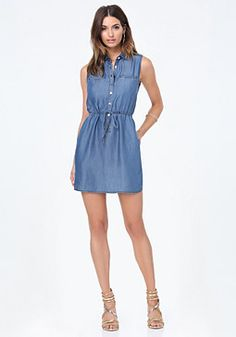 5122f4625 bebe Ashley Chambray Shirtdress Vestido De Mezclilla Outfits