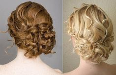 Curly updos are my favorite.