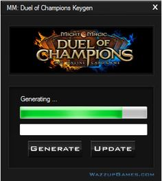 We would like to present you the Might & Magic: Duel of Champions Keygen you can download absolutely free just to play the full version of the game.  http://wazzupgames.com/might-magic-duel-of-champions-keygen/