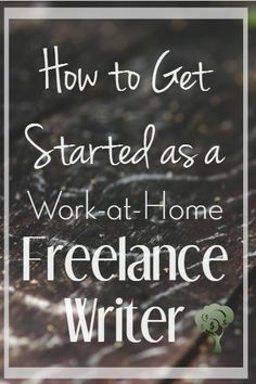 Great breakdown of freelance writing for beginners