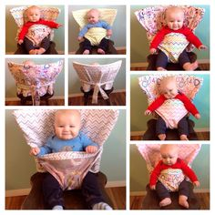 PDF Pattern & Tutorial for the Reversible Portable Anywhere Highchair by picketfencecreation on Etsy https://www.etsy.com/listing/218827210/pdf-pattern-tutorial-for-the-reversible