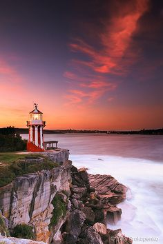 Hornby Lighthouse at Sunset, Sydney, NSW, Australia.