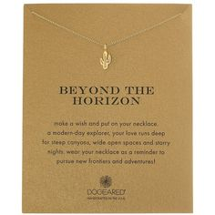 Dogeared Beyond the Horizon Cactus Reminder Necklace ($58) ❤ liked on Polyvore featuring jewelry, necklaces, star necklace, star jewelry, chain pendants, charm necklace and charm pendant