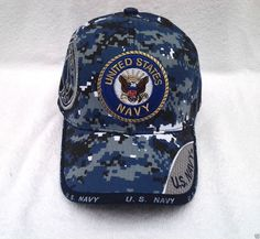 "/""DISTRESSED/""  COTTON Submarine Service Veteran Hat US Navy BLUE Enlisted Version"