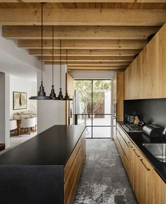 Interior Design Examples, Interior Design Inspiration, Küchen Design, House Design, Loft Design, Wooden Beams Ceiling, Weekend House, Home Decor Accessories, Cheap Home Decor