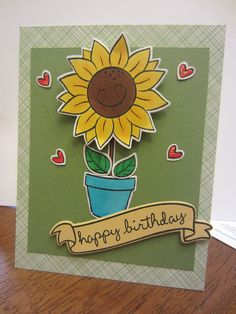 Lawn Fawn - Our Friendship Grows, Bannerific, Sophie's Sentiments _ such a fun birthday card by Sandy!
