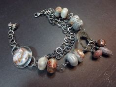 Crazy Lace Agate and by wildorchidjewelry