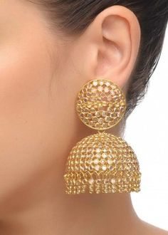 Crystal Big Jhumka Earrings
