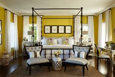 Print of Get Premium Style with Playful Yellow Mustard Bedroom Ideas