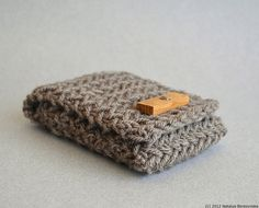Knitted iPhone Case $25.00, via Etsy.