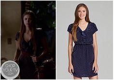 Shop Your Tv: The Vampire Diaries: Season 4 Episode 7 Elena's Blue Ruffle Front Dress