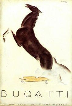 Charles Loupot, Projet d'affiche pour Bugatti, 1924