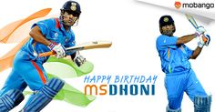 Love him or hate him, you can't ignore him. India cricket team's most successful skipper till date, MS Dhoni, turns 34 today! Get Free cricket games: http://www.mobango.com/free-cricket-games/?track=Q1X2U514&sid=69&cid=1858294&frompage=search&type=special&track=Q148X1749