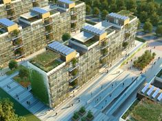Nanjing Eco Housing, BDP, nanjing, eco residences, living wall, triple glazing, solar power