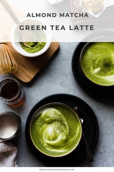 There's nothing cozier than a matcha green tea latte. This latte is made dairy-free with almond milk and sweetened lightly with maple syrup. Bhg Recipes, Easy Dinner Recipes, Gourmet Recipes, Snack Recipes, Snacks, Drinks Alcohol Recipes, Cocktail Recipes, Drink Recipes, Most Popular Recipes