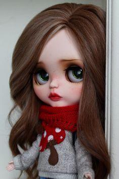 RESERVED Annette Custom Blythe Doll OOAK Art Doll