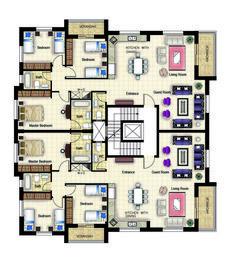 Residential building_Ramallah plan My work in Engineering Offic. - Architecture - Home Design Duplex Floor Plans, Hotel Floor Plan, Apartment Floor Plans, House Floor Plans, House Layout Plans, Floor Plan Layout, Residential Building Plan, Office Building Plans, Architecture Résidentielle
