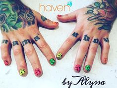 For the neon guy/gal in ya or a funky weekend look!!! Nails done at HAVEN in Denver, CO